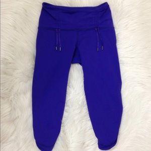 LULULEMON Purple Capri Leggings Cropped Pants 4
